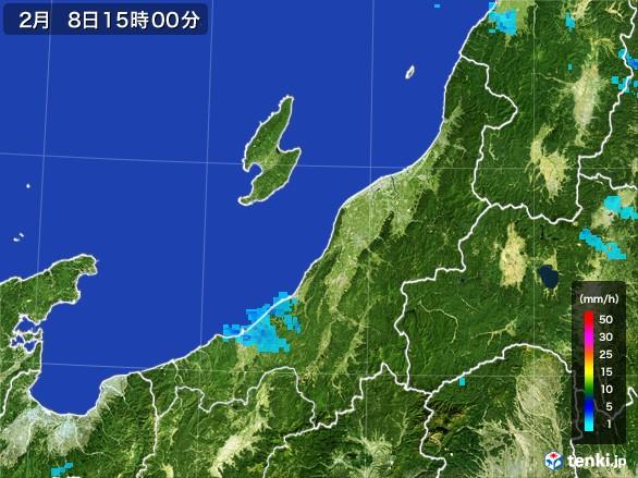 新潟県の雨雲レーダー(2017年02月08日)