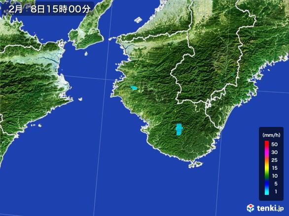 和歌山県の雨雲レーダー(2017年02月08日)