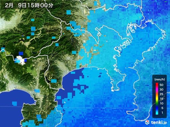 神奈川県の雨雲レーダー(2017年02月09日)