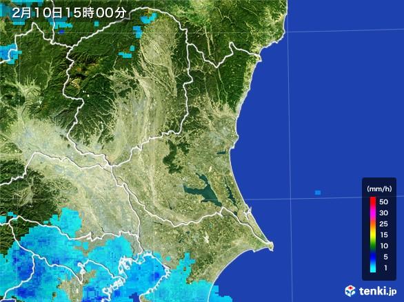 茨城県の雨雲レーダー(2017年02月10日)