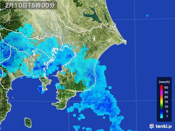 千葉県の雨雲レーダー(2017年02月10日)