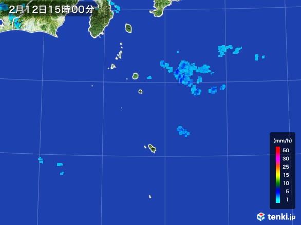 伊豆諸島(東京都)の雨雲レーダー(2017年02月12日)
