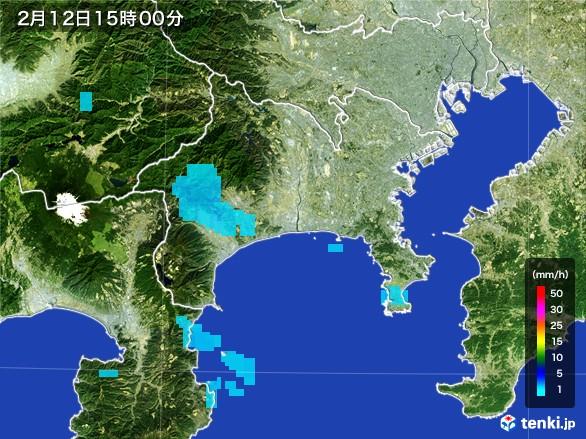 神奈川県の雨雲レーダー(2017年02月12日)