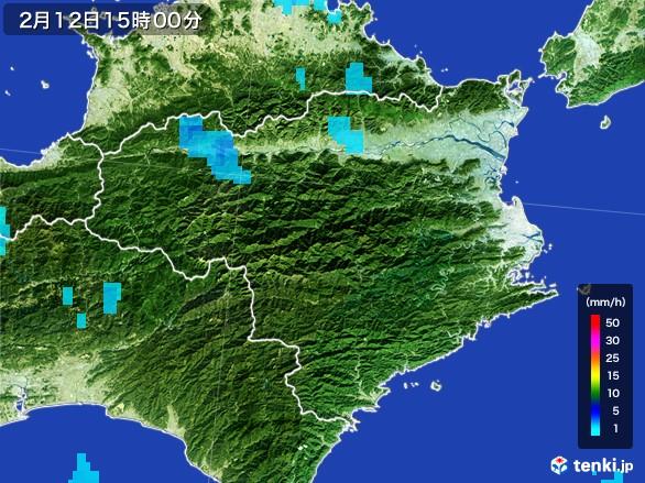 徳島県の雨雲レーダー(2017年02月12日)