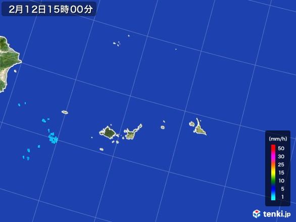 宮古・石垣・与那国(沖縄県)の雨雲レーダー(2017年02月12日)