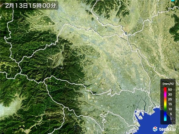 埼玉県の雨雲レーダー(2017年02月13日)