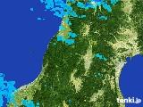 2017年02月18日の山形県の雨雲レーダー