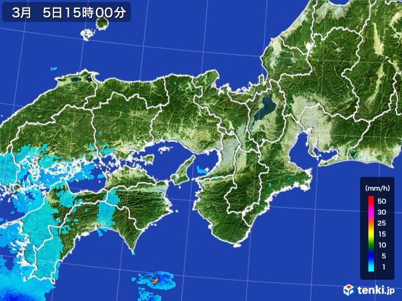 近畿地方の雨雲の動き(2017年03月05日)
