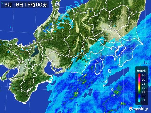 東海地方の雨雲レーダー(2017年03月06日)