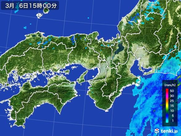 近畿地方の雨雲レーダー(2017年03月06日)
