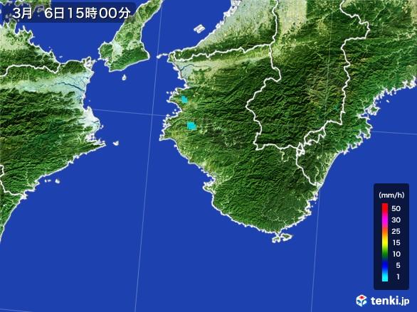 和歌山県の雨雲レーダー(2017年03月06日)