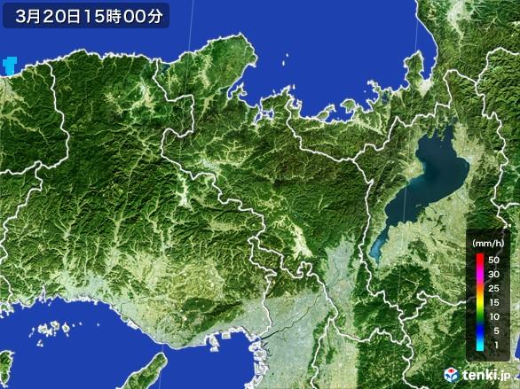 京都府の雨雲レーダー(2017年03月20日)