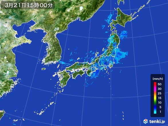 雨雲の動き(2017年03月21日)