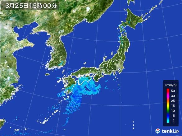 雨雲の動き(2017年03月25日)