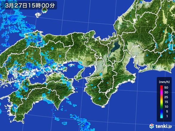 近畿地方の雨雲の動き(2017年03月27日)
