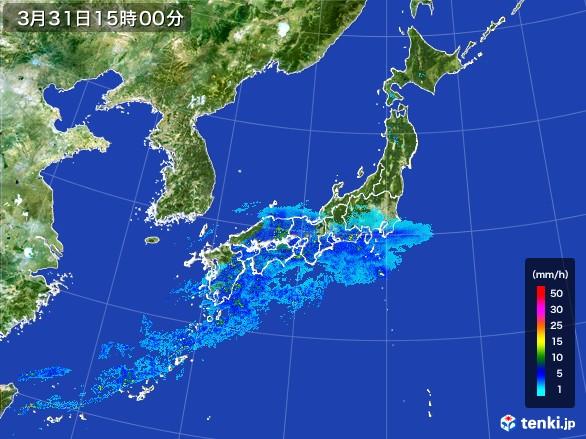 雨雲の動き(2017年03月31日)