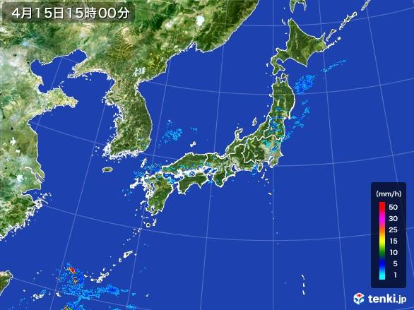雨雲の動き(2017年04月15日)