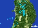 2017年04月30日の秋田県の雨雲の動き