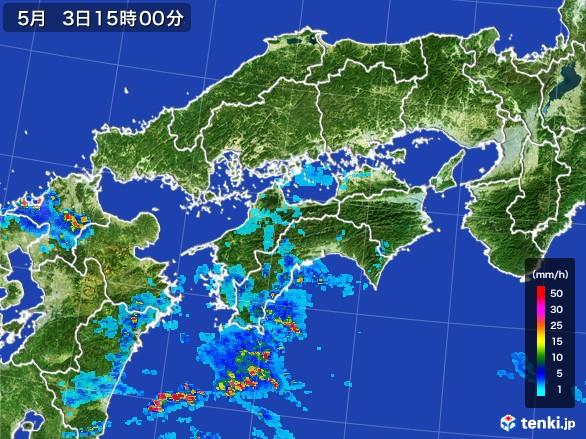 四国地方の雨雲の動き(2017年05月03日)