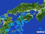2017年05月03日の四国地方の雨雲の動き