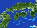 2017年05月04日の四国地方の雨雲の動き