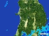 2017年05月06日の秋田県の雨雲の動き