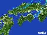 2017年05月10日の四国地方の雨雲の動き
