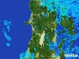 2017年05月10日の秋田県の雨雲の動き