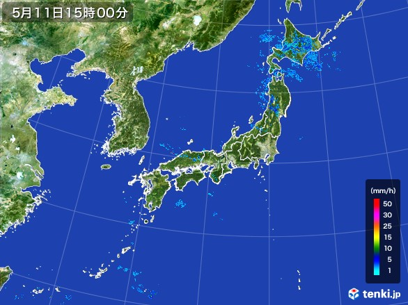 雨雲レーダー(2017年05月11日)