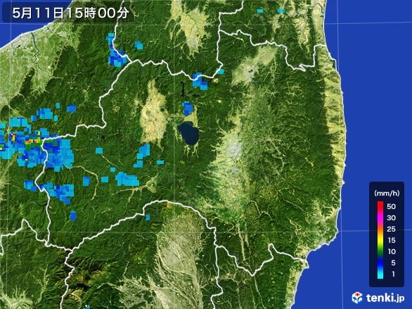 福島県の雨雲レーダー(2017年05月11日)