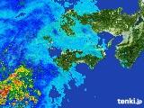 2017年05月12日の四国地方の雨雲の動き