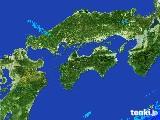 2017年05月13日の四国地方の雨雲の動き