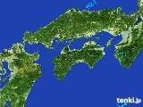 2017年05月14日の四国地方の雨雲の動き