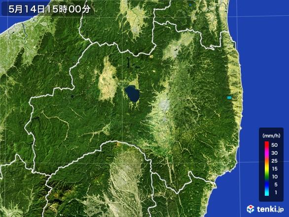 福島県の雨雲レーダー(2017年05月14日)