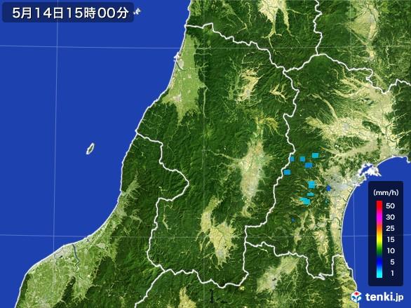 山形県の雨雲レーダー(2017年05月14日)