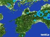 2017年05月17日の愛媛県の雨雲の動き