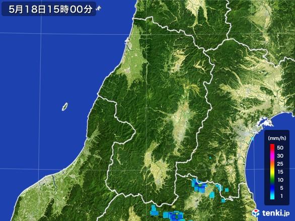 山形県の雨雲レーダー(2017年05月18日)