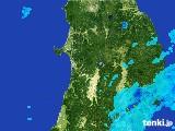 2017年05月24日の秋田県の雨雲の動き