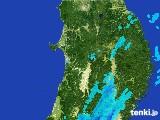 2017年05月25日の秋田県の雨雲の動き