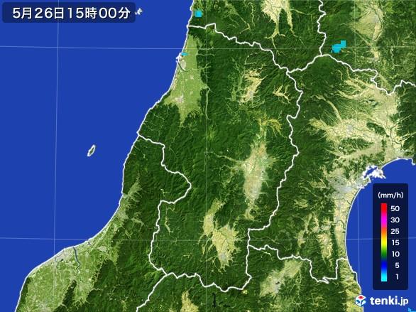 山形県の雨雲レーダー(2017年05月26日)