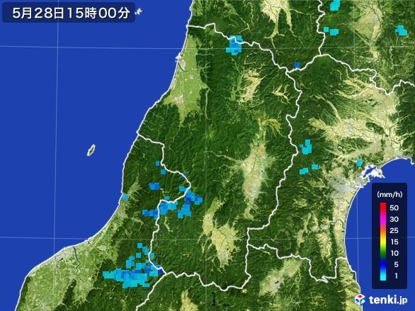 山形県の雨雲レーダー(2017年05月28日)