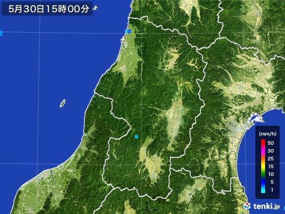 山形県の雨雲レーダー(2017年05月30日)