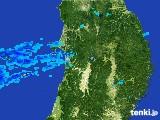 2017年05月31日の秋田県の雨雲の動き