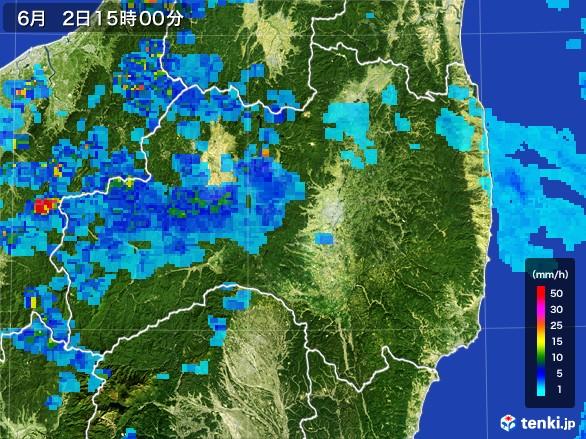 福島県の雨雲レーダー(2017年06月02日)