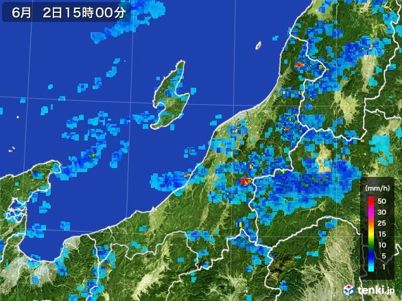 新潟県の雨雲レーダー(2017年06月02日)