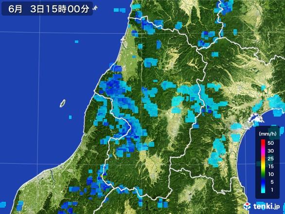 山形県の雨雲レーダー(2017年06月03日)