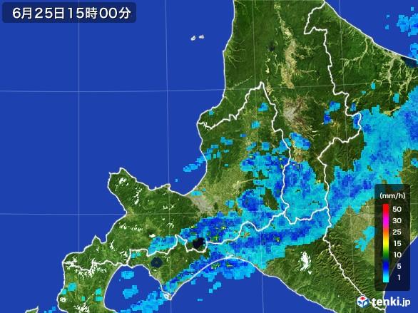 道央の雨雲レーダー(2017年06月25日)