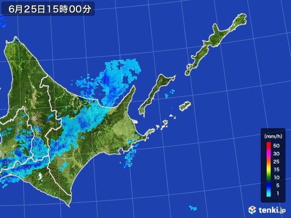 道東の雨雲レーダー(2017年06月25日)