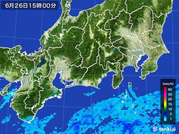 東海地方の雨雲レーダー(2017年06月26日)
