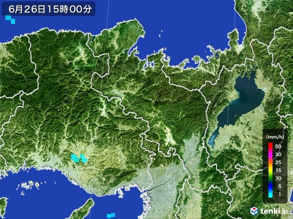 京都府の雨雲レーダー(2017年06月26日)
